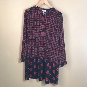 Loft outlet floral tunic/dress
